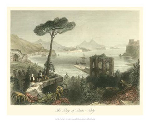 Framed Bay of Baie, Italy Print