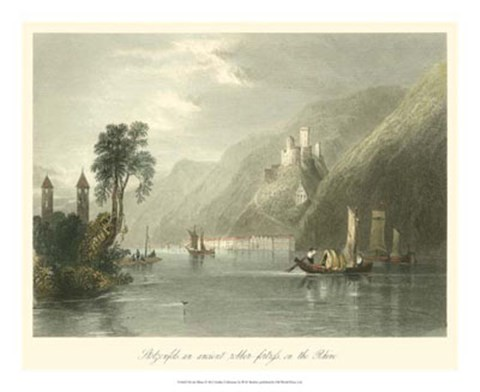Framed On the Rhine Print