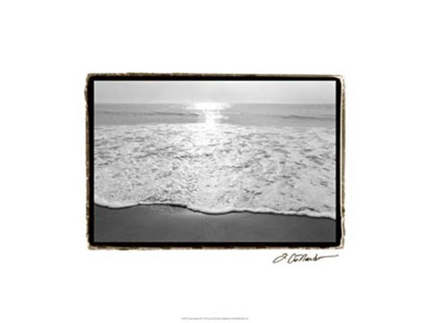 Framed Ocean Sunrise III Print