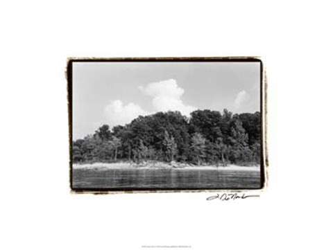 Framed Serene Lake I Print