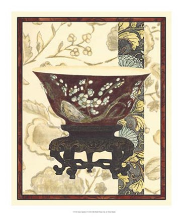 Framed Asian Tapestry II Print
