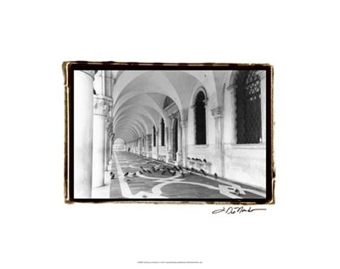 Framed Archways of Venice I Print