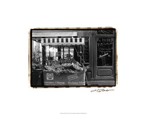 Framed Cafe Charm, Paris I Print