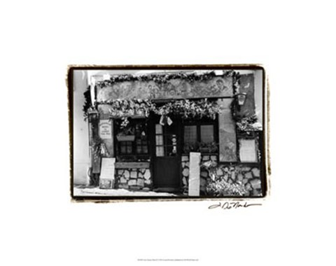 Framed Cafe Charm, Paris II Print