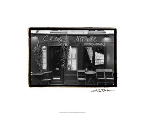 Framed Cafe Charm, Paris V Print