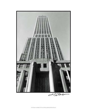 Framed Empire State Building I Print