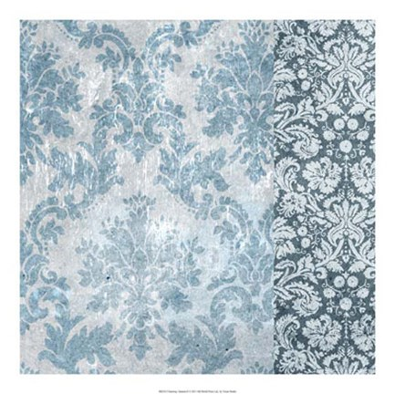Framed Chambray Damask II Print