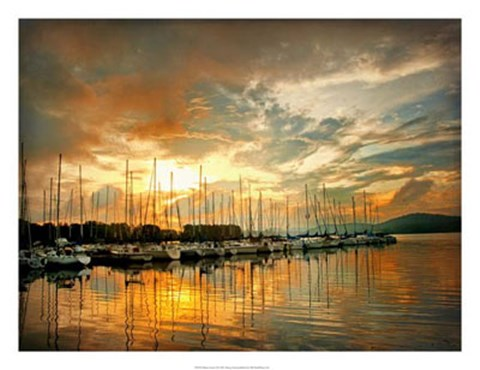 Framed Marina Sunrise II Print