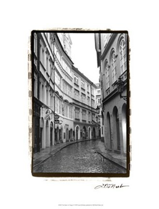 Framed Streets of Prague I Print