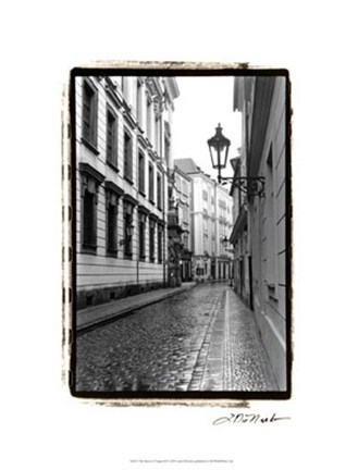 Framed Streets of Prague III Print