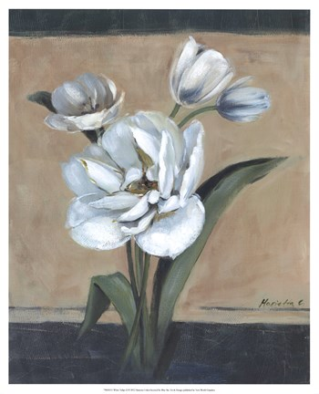 Framed White Tulips II Print