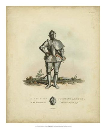 Framed Men in Armour IV Print