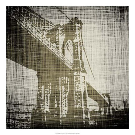 Framed Bridges of New York I Print