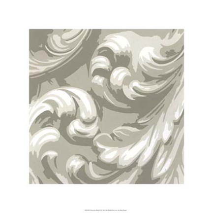 Framed Decorative Relief III Print
