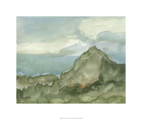 Framed Plein Air Mountain View I Print