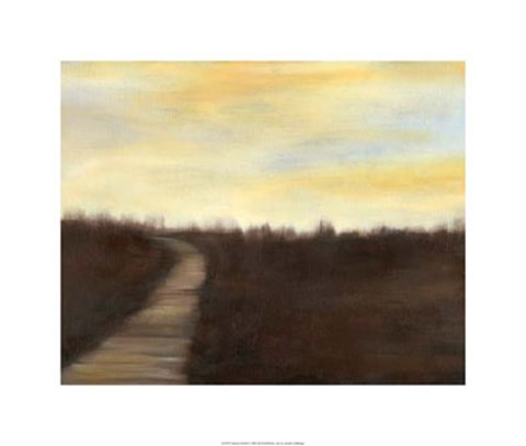 Framed Sunrise Stroll II Print