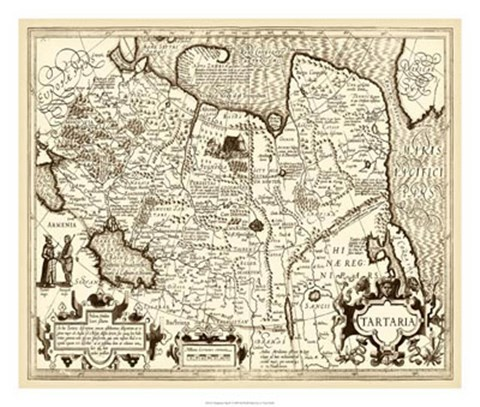 Framed Antiquarian Map IV Print