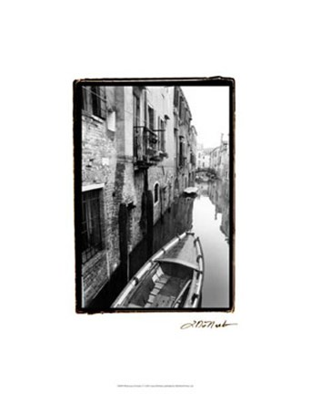 Framed Waterways of Venice V Print