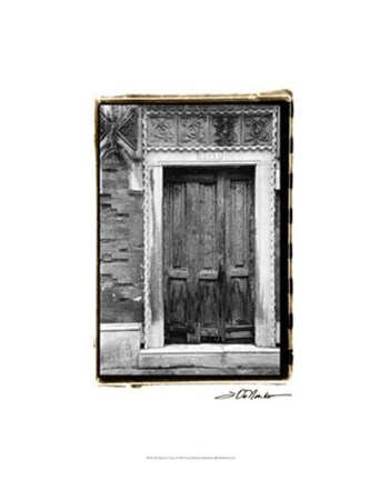 Framed Doors of Venice I Print