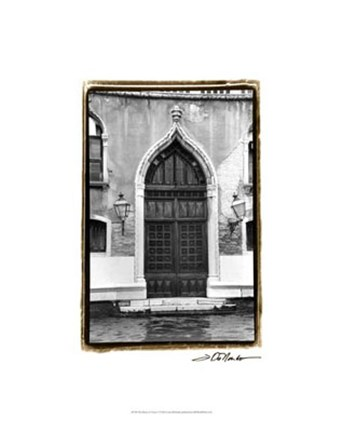 Framed Doors of Venice V Print