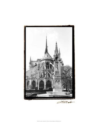 Framed Notre Dame Cathedral III Print