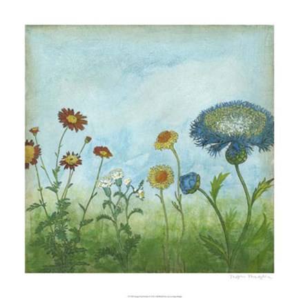 Framed Antique Floral Meadow II Print