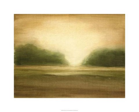 Framed Golden Mist II Print