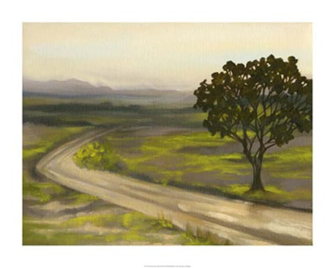 Framed Road in the Valley II Print