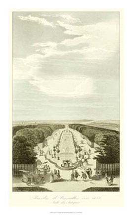 Framed Garden at Versailles III Print