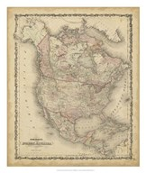 Johnson&#39;s Map of North America