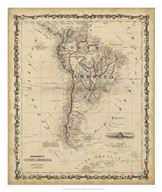 Johnson&#39;s Map of South America