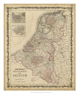 Johnson&#39;s Map of Holland &amp; Belgium