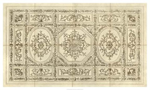 Framed Ornamental Ceiling Design Print
