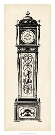 Framed Antique Grandfather Clock I Print