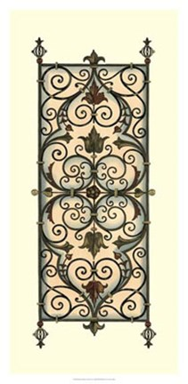 Framed Printed Wrought Iron Panels I Print