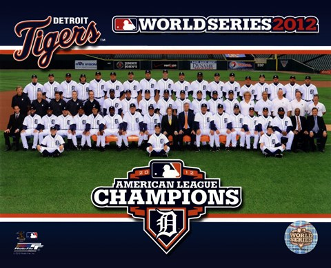 Framed Detroit Tigers 2012 American League Champions Team Photo Print