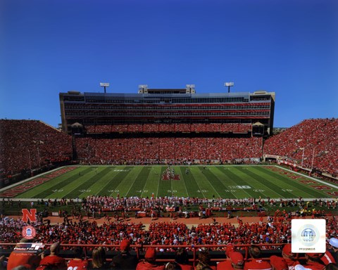 Framed University of Nebraska Cornhuskers Memorial Stadium 2012 Print
