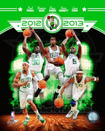 Framed Boston Celtics 2012-13 Team Composite Print