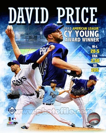 Framed David Price 2012 American League Cy Young Award Winner Composite Print