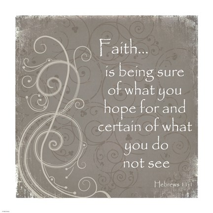 Framed Faith Quote Print