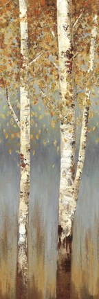 Framed Butterscotch Birch Trees II Print