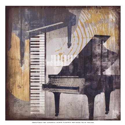 Framed Pianos Print
