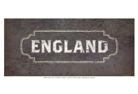 Framed Vintage Sign - England Print