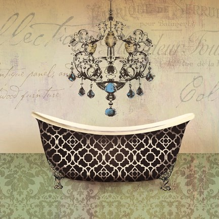 Framed French Vintage Bath I - Mini Print