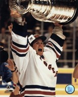Mike Richter - '93/'94 with cup  Fine Art Print