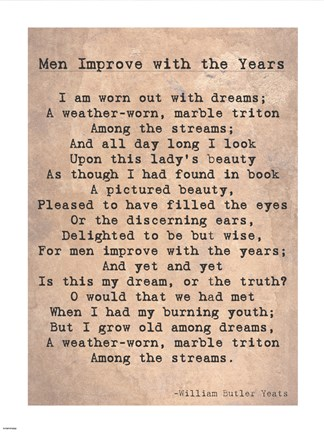 Framed Men Improve With the Years Print