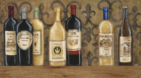 Framed Wines of the World Print