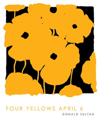 Framed Four Yellows April 6 Print