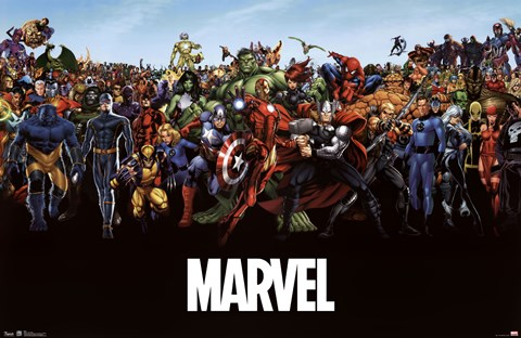 Framed Marvel - The Lineup Print