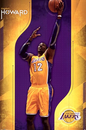 Framed Lakers - D Howard 12 Print